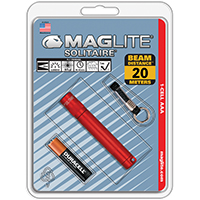 MAGLITE  SOLITAIRE AAA RED-BLISTER PACK