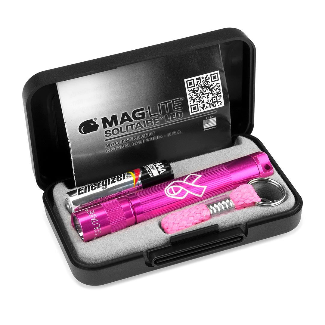 MAGLITE  SOLITAIRE AAA NBCF PINK-GIFT BOX