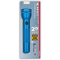 MAGLITE 2 CELL D  FLASHLIGHT BLUE-BLISTER PACK