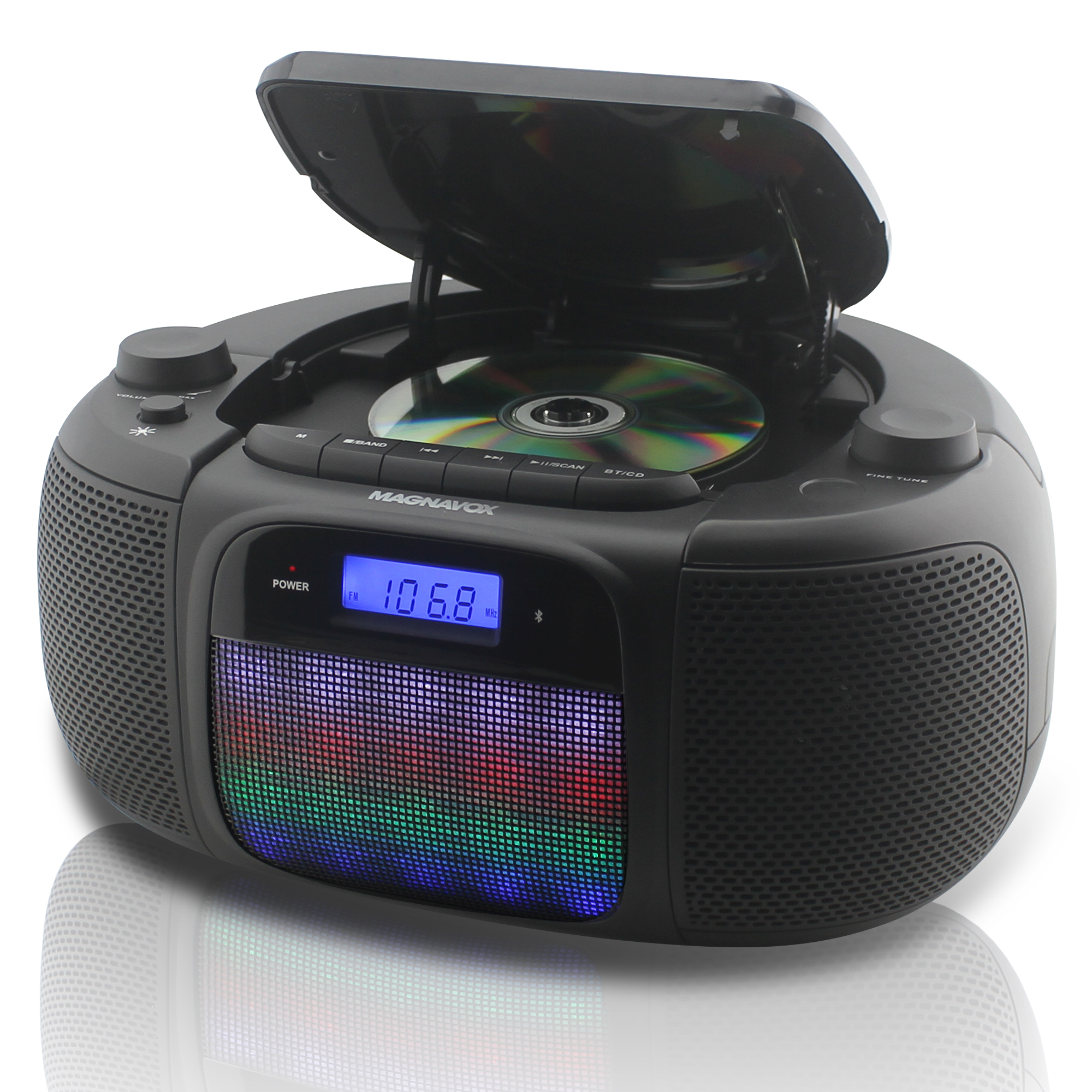 MAGNAVOX MD6972 CD BOOMBOX WITH DIGITAL PLL AM FM STEREO