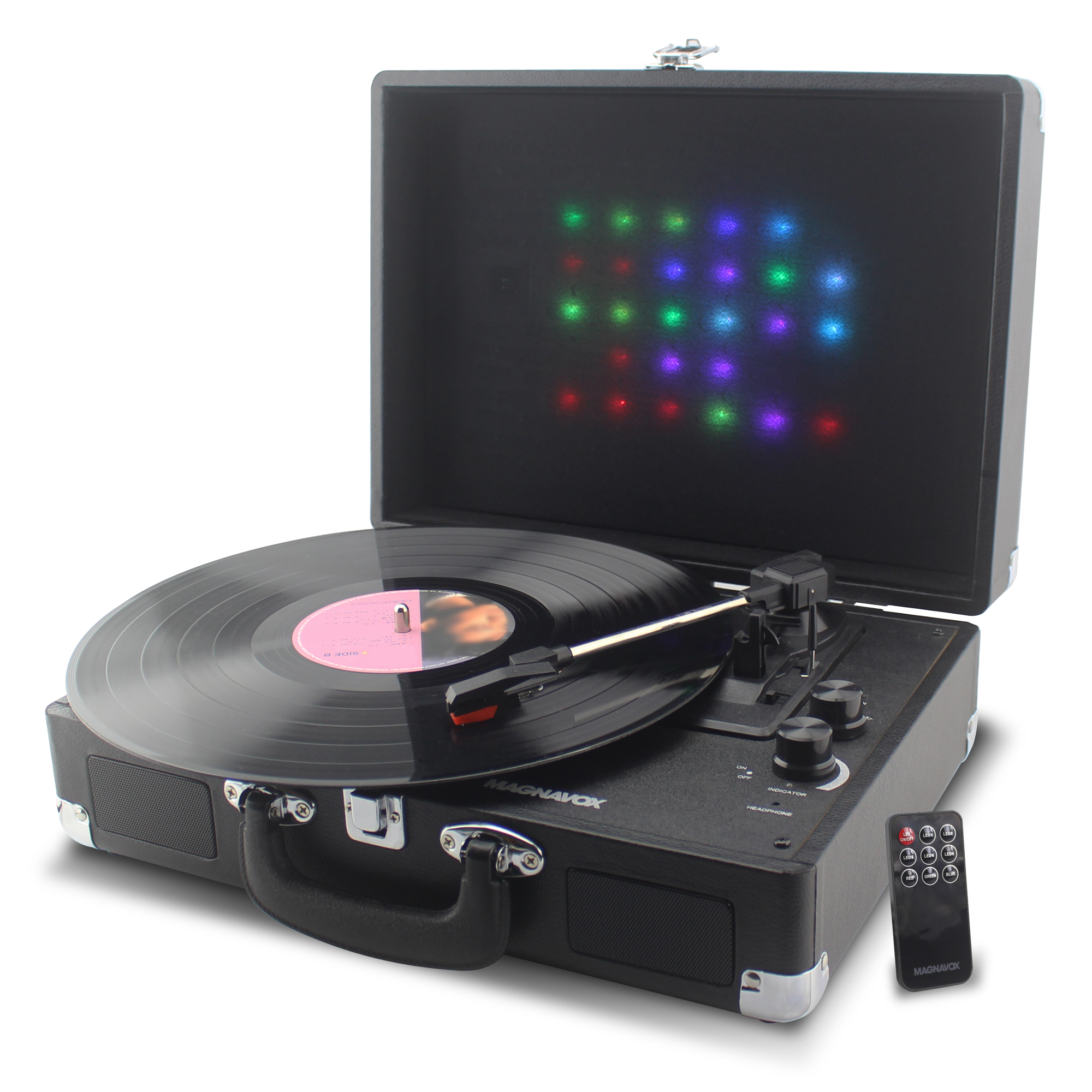 MAGNAVOX MD699 SUITCASE TURNTABLE SYSTEM WITH BLUETOOTH
