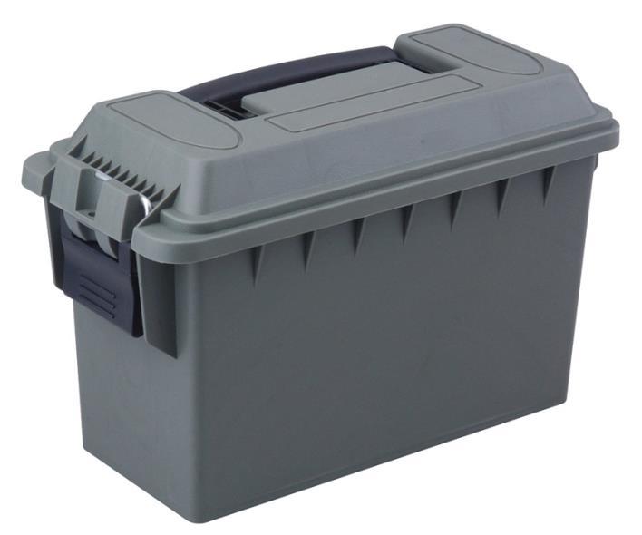 AMMO BOX PLASTIC .30CAL OD GRN