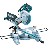 Makita LS1018 Dual Slide Compound Miter Saw, 10 in Dia Blade, 4300 rpm, 120 V, 13 A, 5/8 in Arbor, Rubber