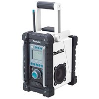 Makita BMR100W Cordless Jobsite Radio, 5 FM, 5 AM Channel, LCD Display