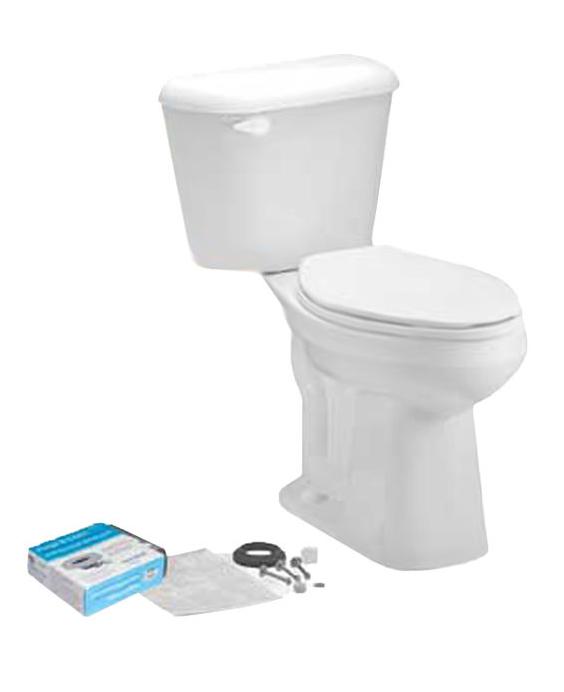 MANSFIELD� PRO-FIT3� WATERSENSE� HIGH-EFFICIENCY ADA ELONGATED TOILET IN A BOX, 1.28 GPF