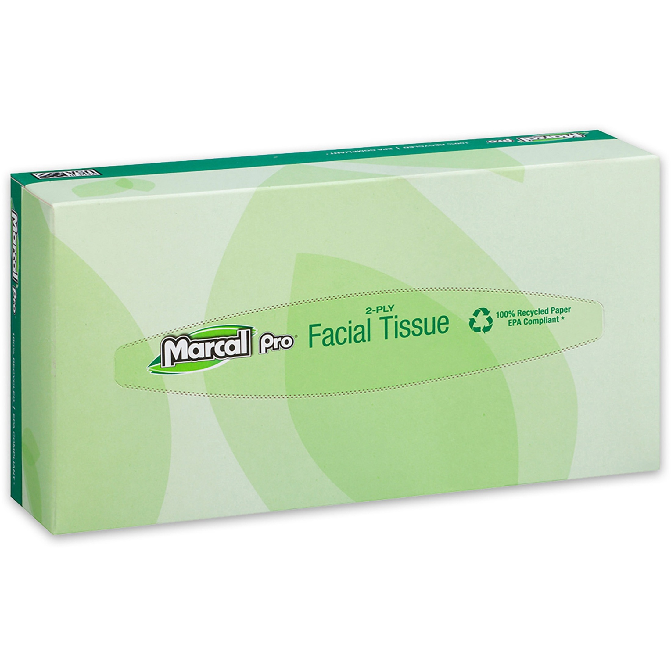 100% Recycled Convenience Pack Facial Tissue, White, 100/Box, 30 Boxes/Carton