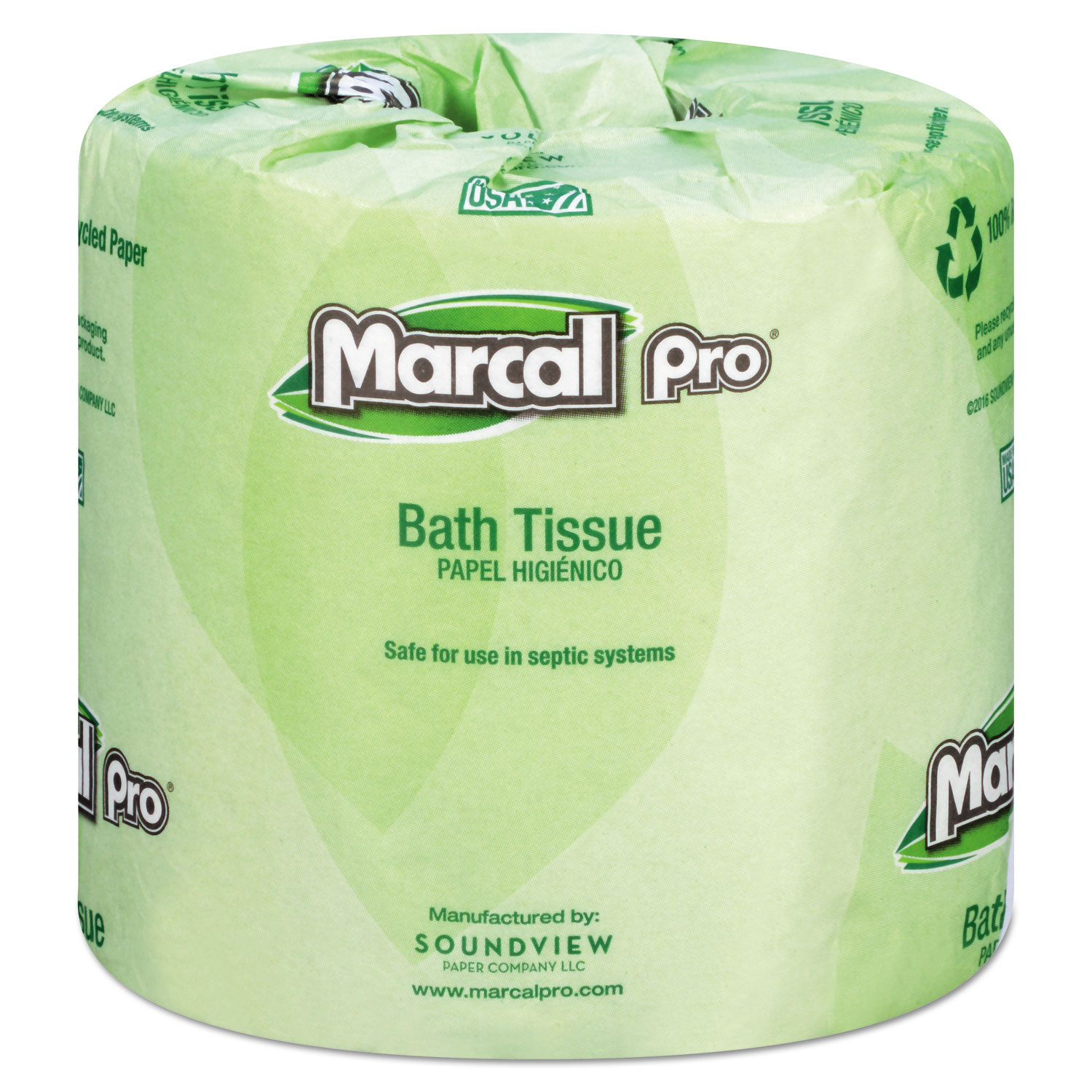 100% Recycled Bathroom Tissue, White, 240 Sheets/Roll, 48 Rolls/Carton
