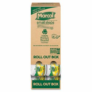 100% Recycled Convenient Roll Out Pack Bath Tissue, 504 Sheets, 48 Rolls/Carton