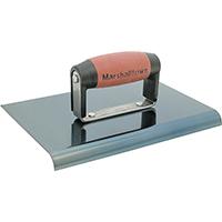 Marshalltown 163BD Hand Edger, 6 in L X 6 in W, Heavy Gauge High Carbon Steel, Blue