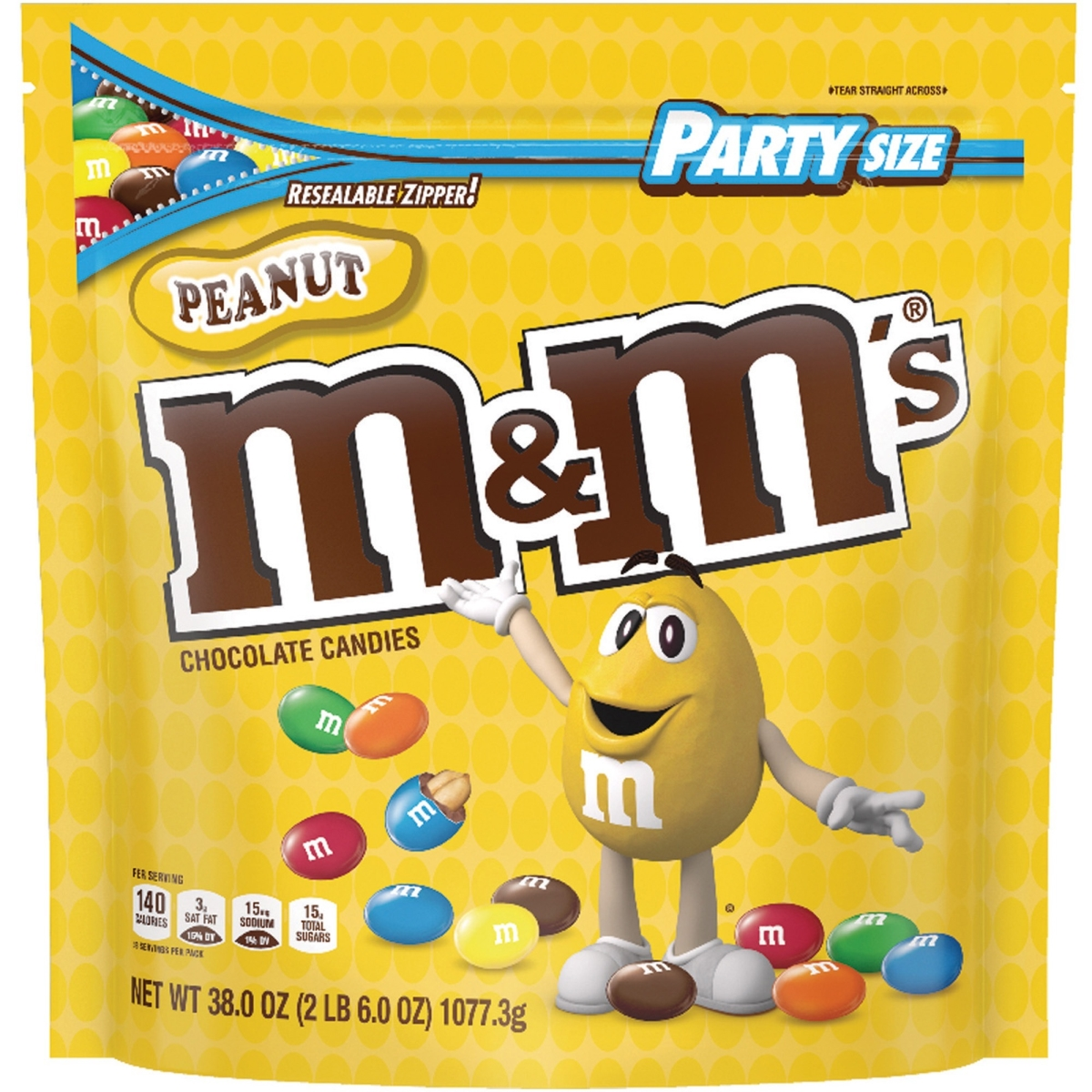 Milk Chocolate Candies, Milk Chocolate and Peanuts, 38 oz Bag