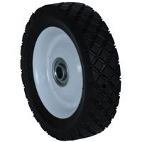 Martin Wheel 715-OF Diamond Tread Light Duty Steel Wheel, 7 X 1-1/2 in, 55 lb Capacity, White Rim