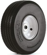 410/350-4 FLAT FREE WHEEL FOR HAND TRUCKS, 10 IN.
