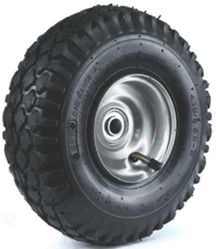 "10"" 410/350-4 PNEUMATIC WHEEL, STUD TREAD TIRE"