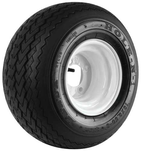 GOLF CART TIRE AND WHEEL ASSEMBLY