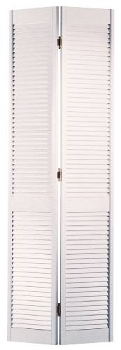 MASONITE� BI-FOLD LOUVERED DOOR, PREFINISHED, PAINTED WHITE, 24X80 IN.