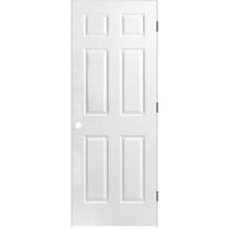 6-PANEL PREHUNG DOOR, PRIMED WHITE, LEFT HAND, 36X80 IN.