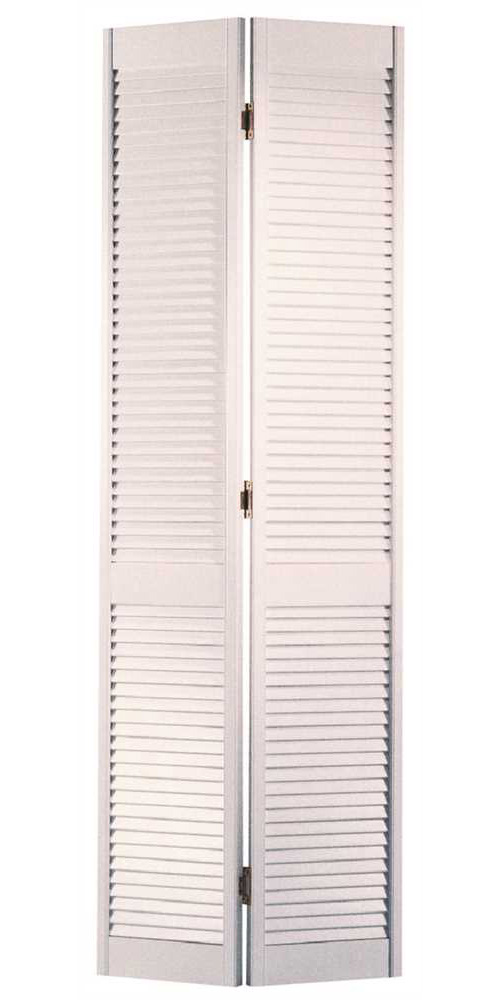 MASONITE� BI-FOLD LOUVERED DOOR, PREFINISHED, PAINTED WHITE, 32X80 IN.