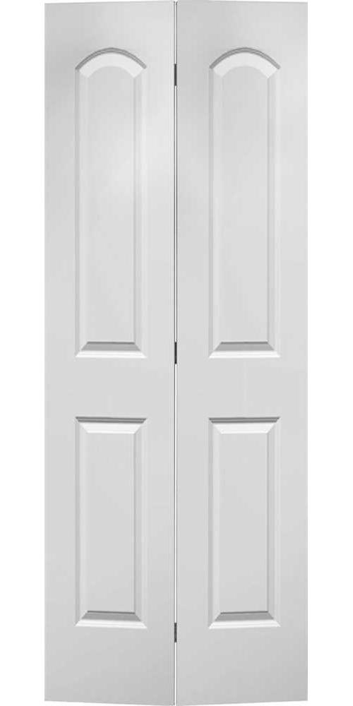 MASONITE� ROMAN HOLLOW CORE BI-FOLD DOOR, SMOOTH FINISH, 2 PANEL, PRIMED WHITE, 80X36 IN.