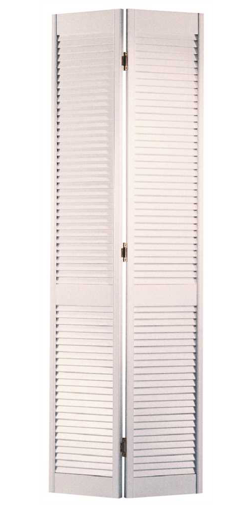 MASONITE� FULL LOUVER BI-FOLD DOOR, WHITE, 80X30 IN.