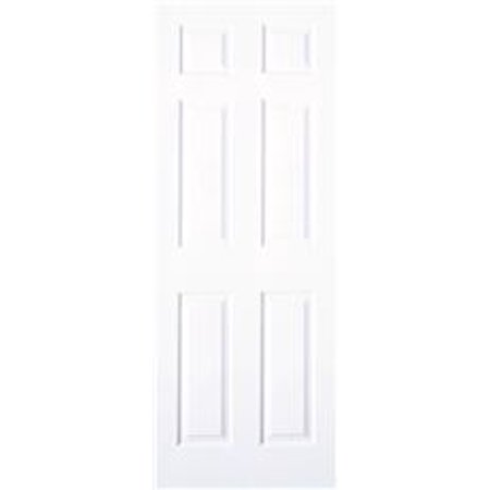 MASONITE� 6-PANEL HOLLOW CORE SLAB DOOR, TEXTURED FINISH, PRIMED WHITE, 32X80 IN.