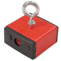Master Magnetics 07503 Retrieving Magnet With Shield, 2-3/8 in L X 2-3/8 in W X 1-1/4 in H, 100 lb