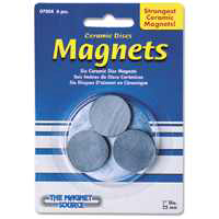 Master Magnetics 07004 Magnet Disc, 1 in Dia X 5/32 in H