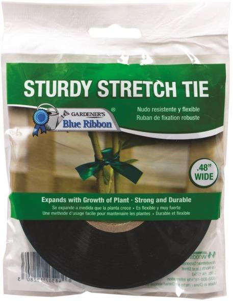 Outdoor Seasons T-007A Heavy Duty Stretch Tie Tape 150 ft L x 1/2 in W, Plastic, Green
