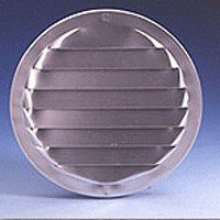 Maurice Franklin RL-100 Round Screen Louver, 1-1/2 in W x 9/16 in H, 0.399 sq-in, Aluminum