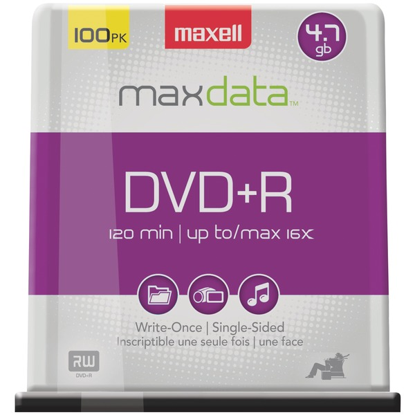 4.7GB DVD+R 100CT SPINDLE