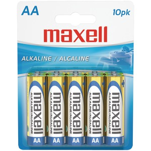 MAXELL 723410 - LR610BP ALKALINE BATTERIES (AA; 10 PK; CARDED)