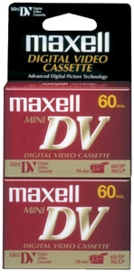 MAXELL 298012 Mini Digital Video Tapes, 2 pk