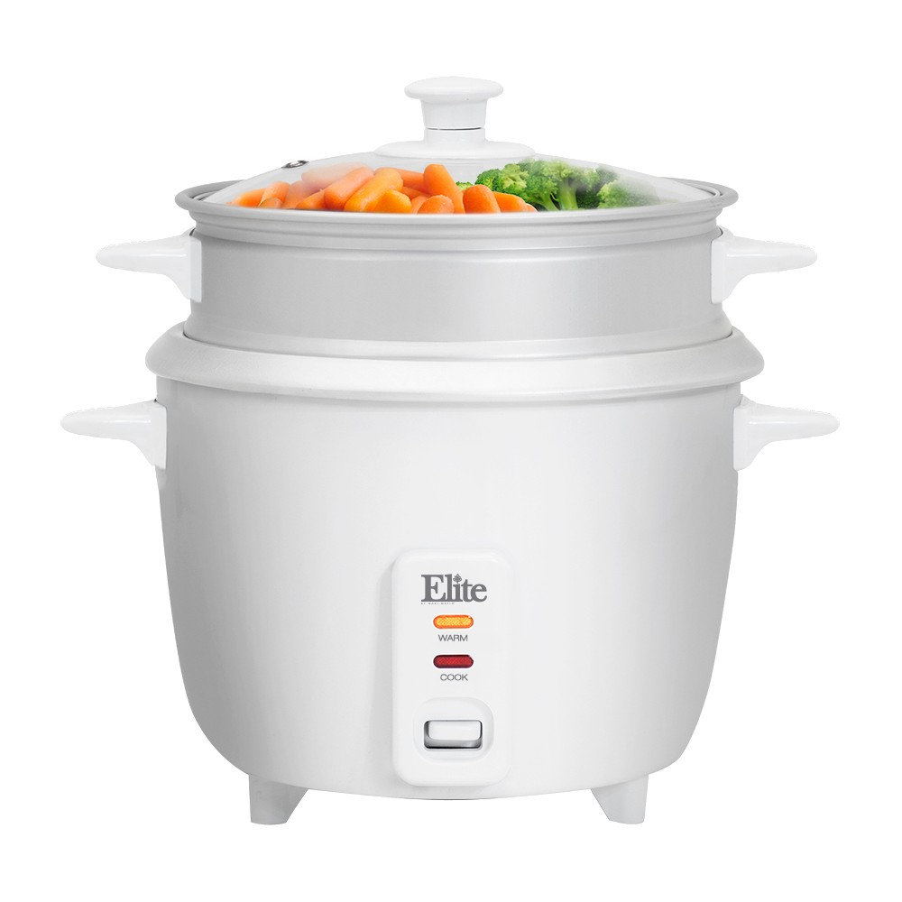 ELITE GOURMET ERC-008ST 16 CUP RICE COOKER WITH STEAM TRAY