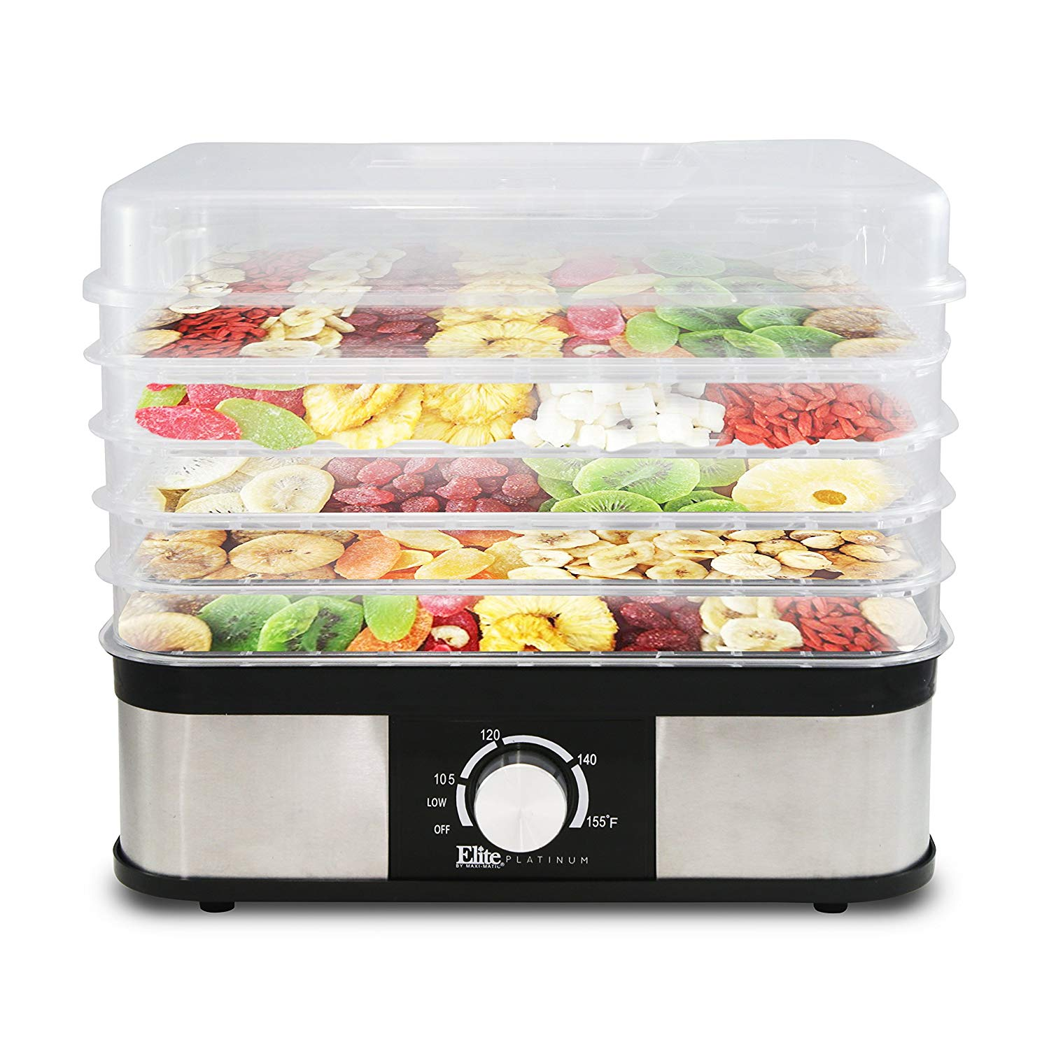 ELITE PLATINUM EFD-1159 FOOD DEHYDRATOR 5 TRAY STACKABLE