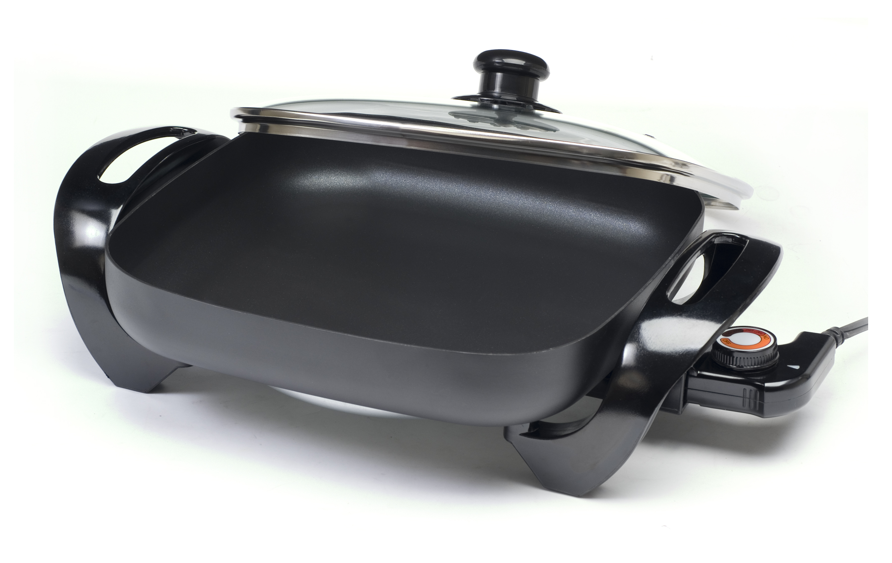 ELITE GOURMET EG-1220G  12X12 ELECTRIC NONSTICK SKILLET WITH