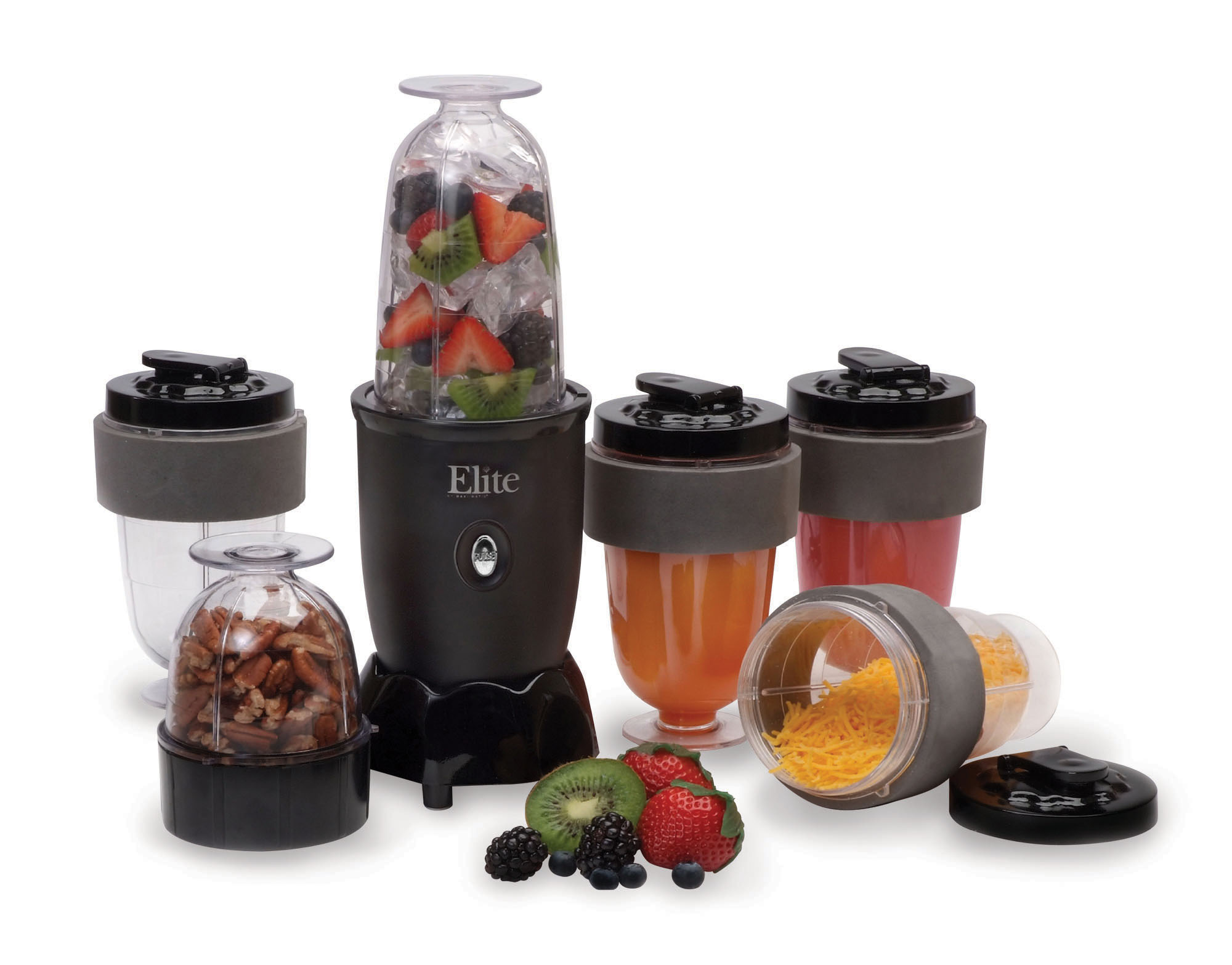 ELITE CUISINE EPB-1800 17 PIECE PERSONAL DRINK BLENDER WITH