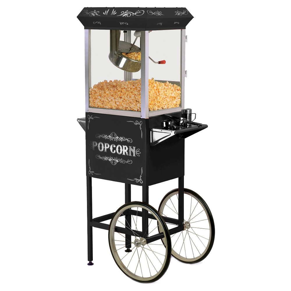 ELITE EPM-200B 8OZ KETTLE OLD FASHIONED POPCORN MAKER TROLLEY