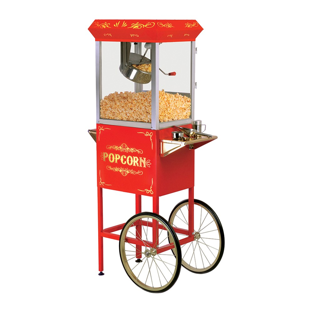 ELITE EPM-200 8OZ OLD FASHIONED POPCORN MAKER TROLLEY