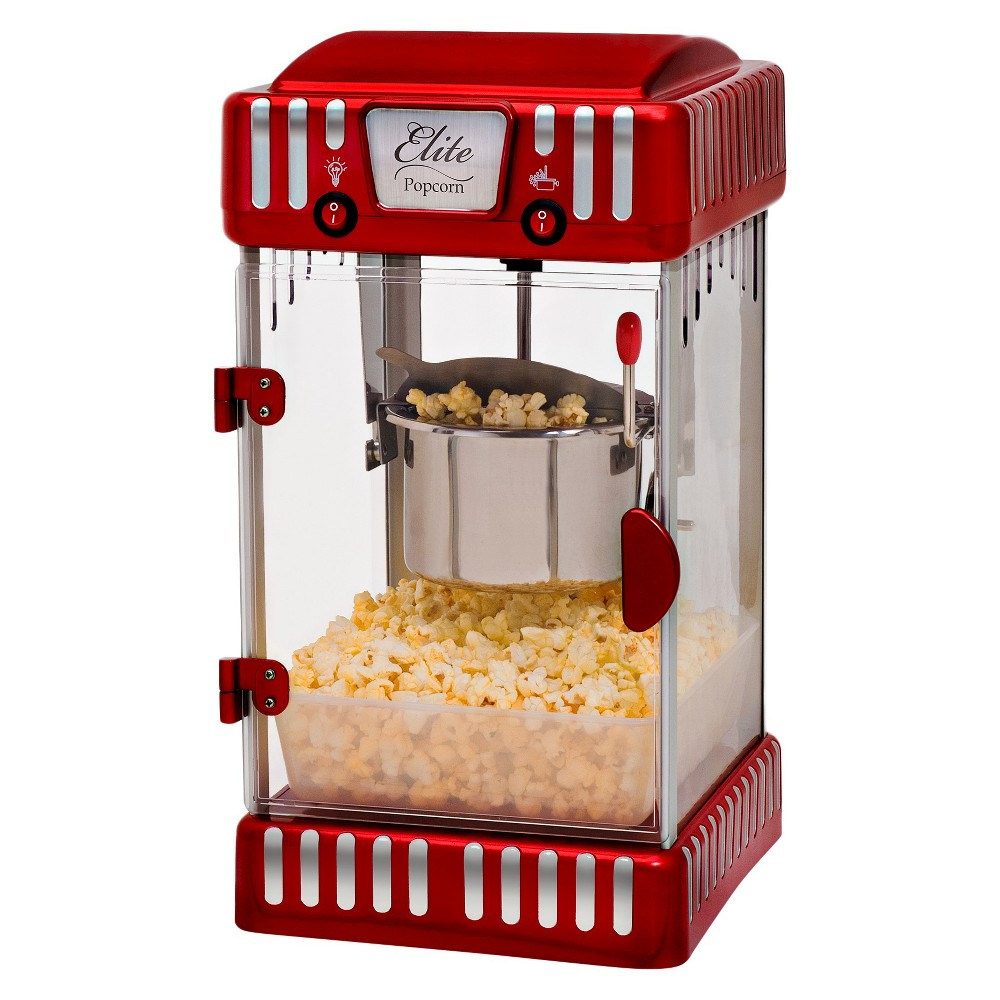 ELITE EPM-250 TABLETOP 2.5OZ KETTLE POPCORN MAKER 300W