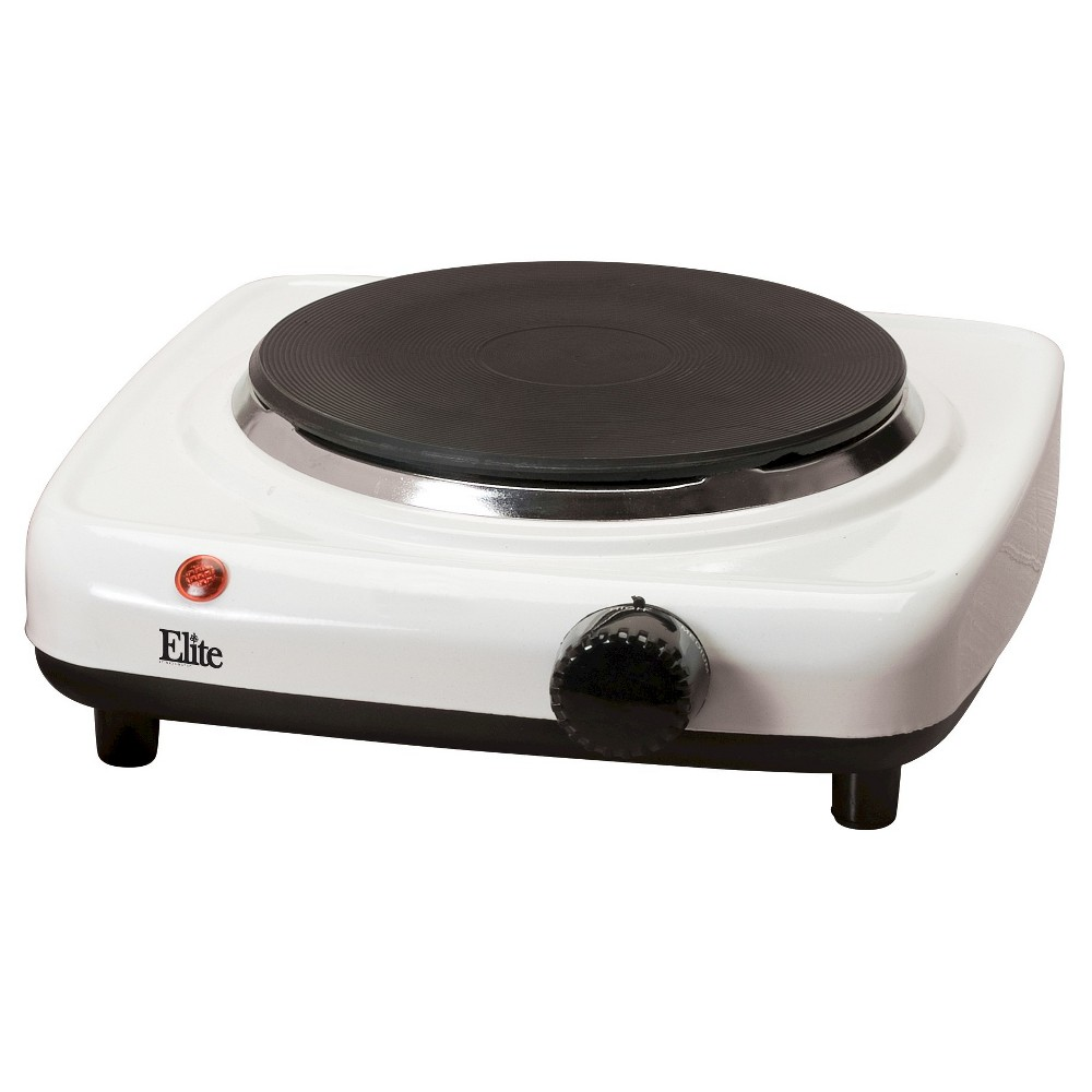 ELITE CUISINE ESB-301F SINGLE ELECTRIC HOT PLATE WHITE