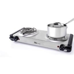 ELITE CUISINE EDB-302SS STAINLESS STEEL ELECTRIC DOUBLE COIL
