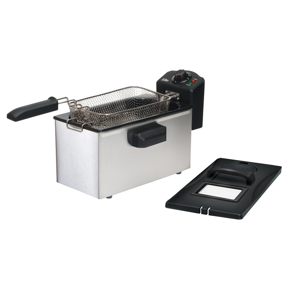 ELITE GOURMET EDF-3507 STAINLESS STEEL 3.5QT DEEP FRYER