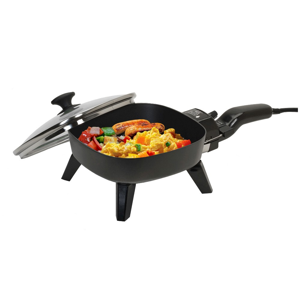 ELITE CUISINE EFS-400 7 INCH ELECTRIC SKILLET WITH GLASS LID