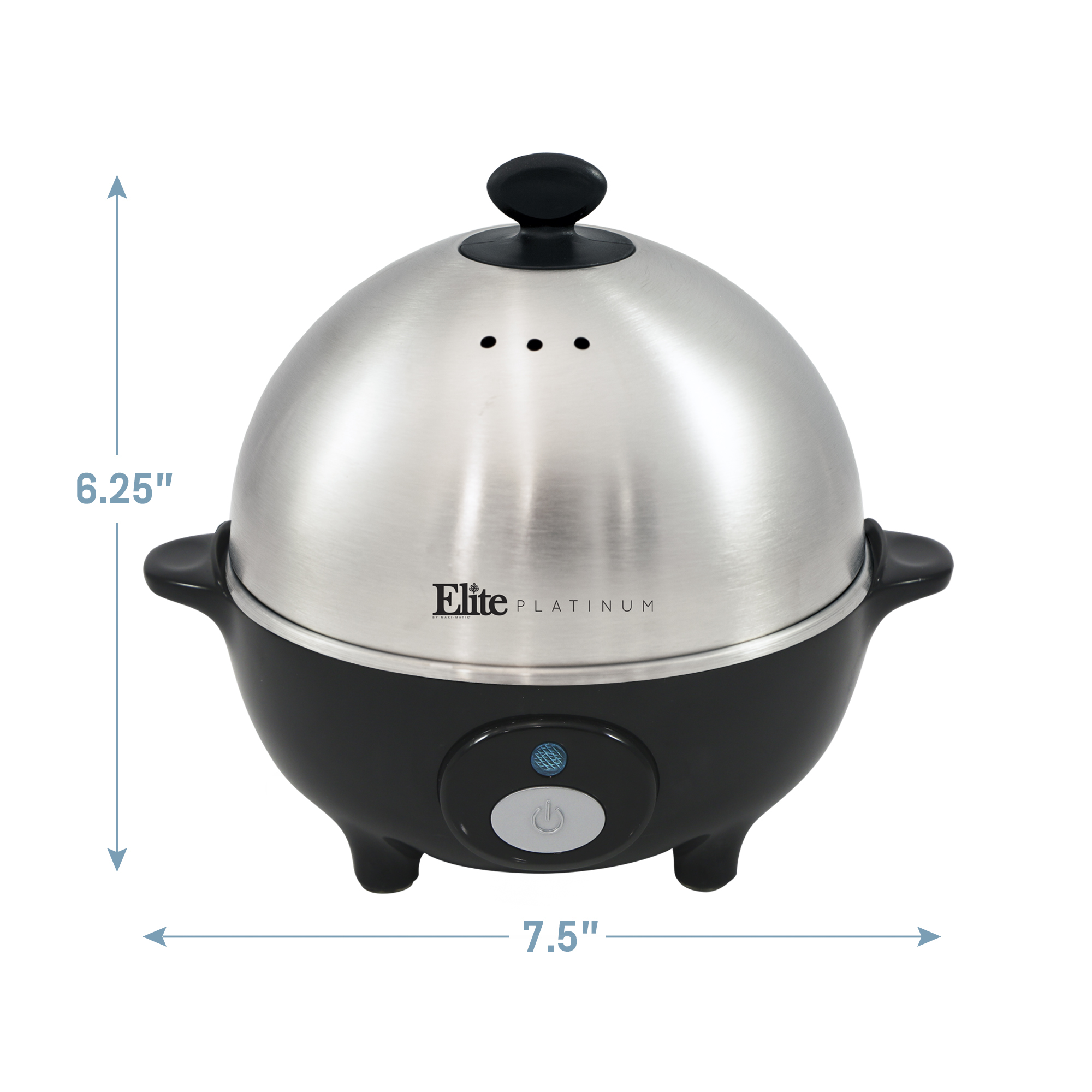 ELITE PLATINUM EGC-508 EGG COOKER STAINLESS STEEL