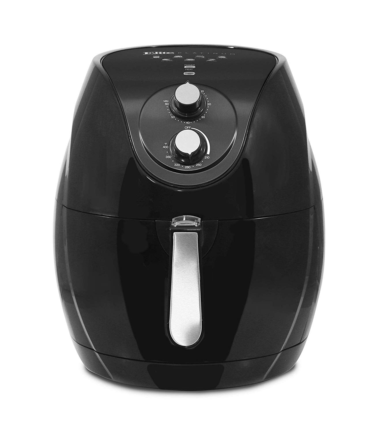 ELITE PLATINUM EAF-553 BLACK XL DELUXE 7QT AIR FRYER