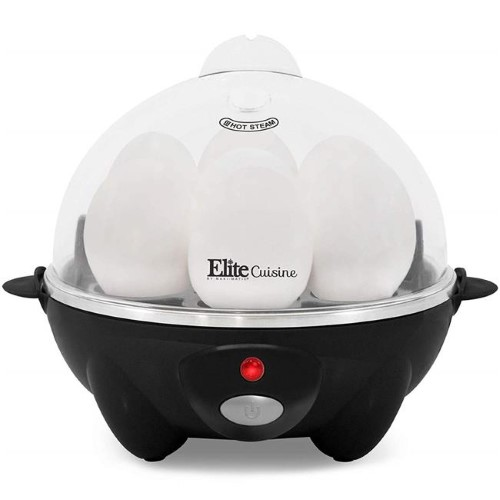 ELITE CUISINE EGC-611B BLACK AUTOMATIC EASY EGG COOKER