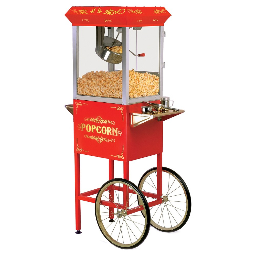 ELITE EPM-400 8OZ KETTLE TABLETOP POPCORN TROLLEY 860 WATTS