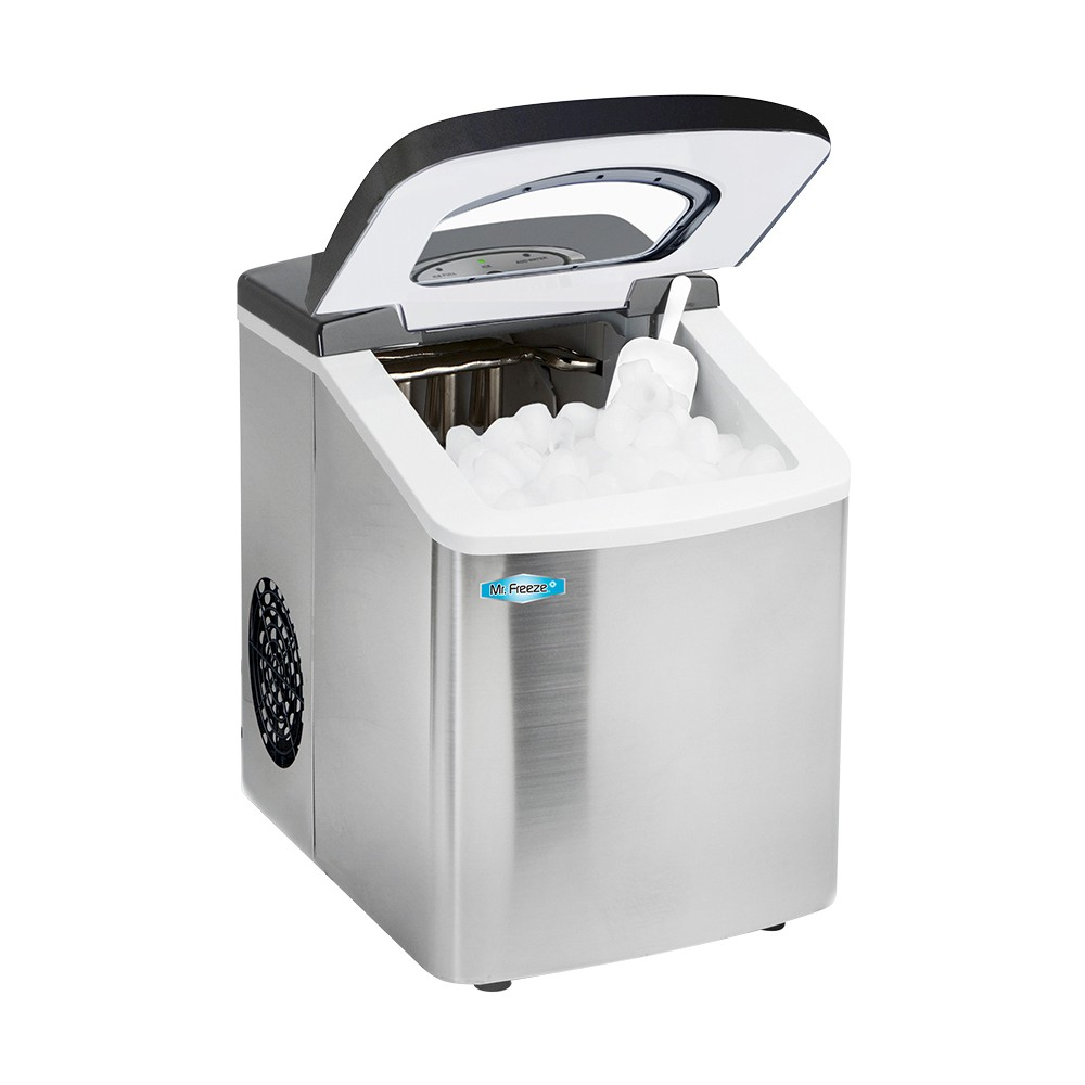 MR FREEZE MIM-18 STAINLESS STEEL PORTABLE ICE MAKER 180W