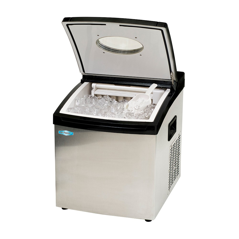 MR FREEZE MIM-5802 PORTABLE CLEAR ICE MAKER STAINLESS STEEL
