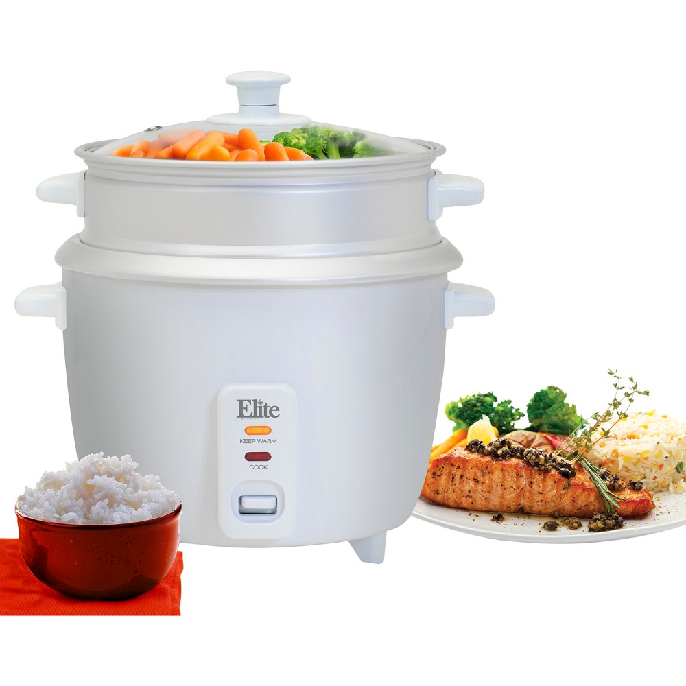 ELITE GOURMET ERC-003ST 6 CUP RICE COOKER WITH STEAM TRAY