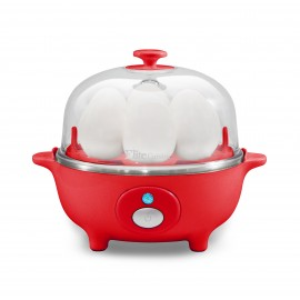 ELITE CUISINE EGC-007R AUTOMATIC EASY EGG COOKER 7EGGS IN RED